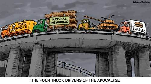 Four Truckers of the Apocalypse