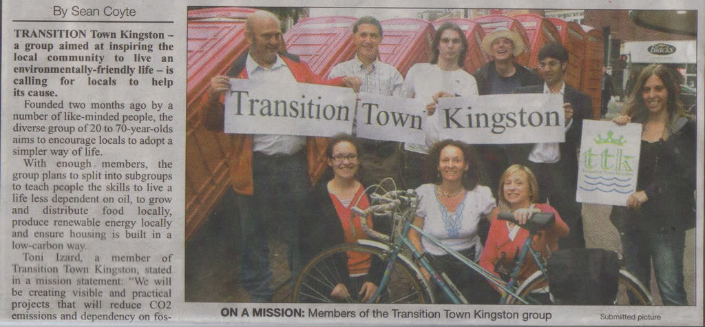 Transition Town Kingston in Kingston Informer