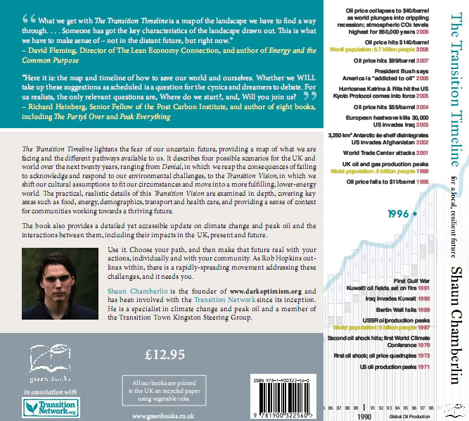 The Transition Timeline - back cover and spine