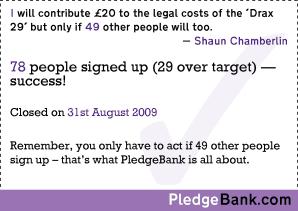 Sign my pledge at PledgeBank