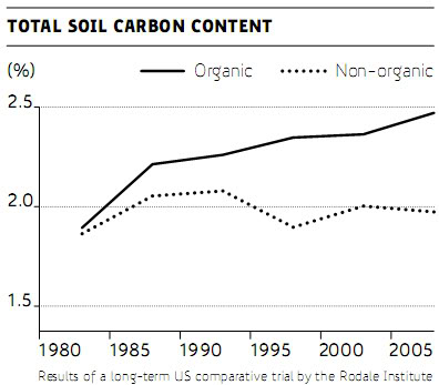 Organic and non-organic soil carbon