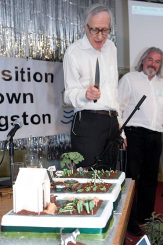 David Fleming at TTK Unleashing, with Robin Hutchinson