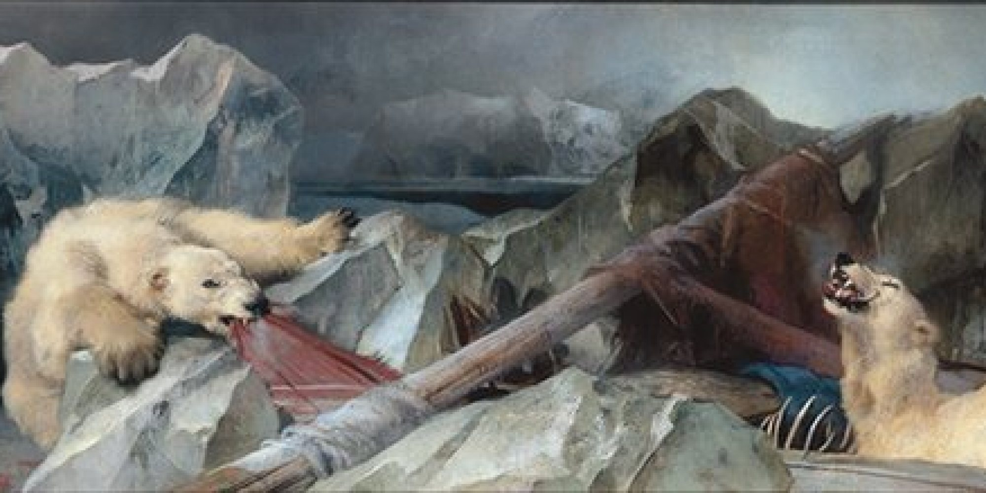 Sir Edwin Landseer, 'Man proposes, God disposes' 1864.