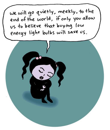 Light bulbs will not save us