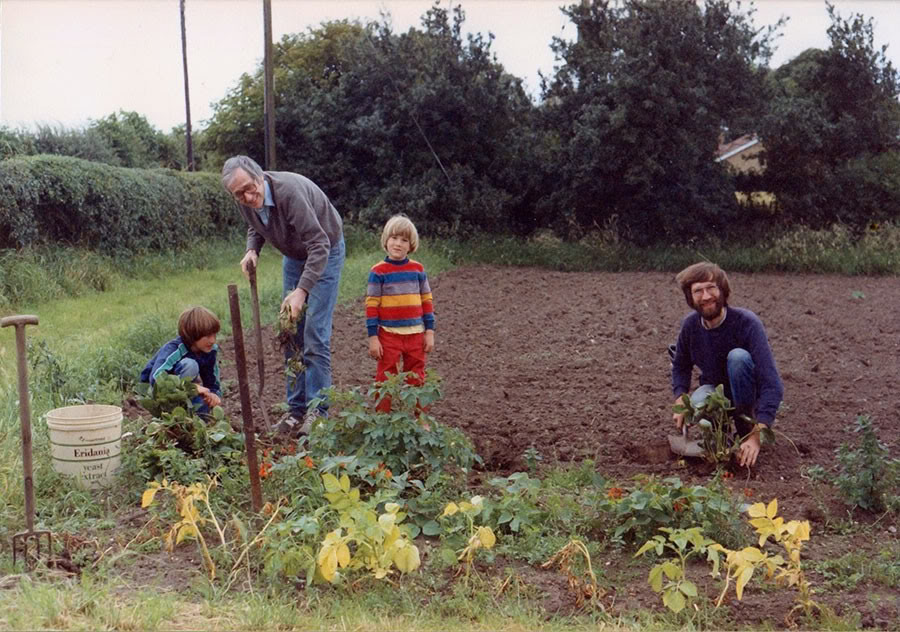 David Fleming on Tithe Farm - 1987