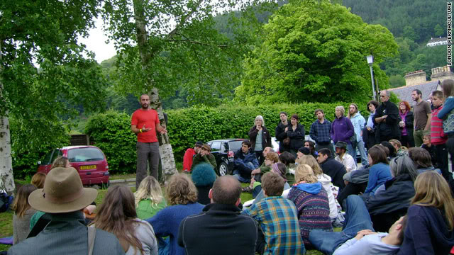 Mark Boyle talking at Uncivilisation 2010