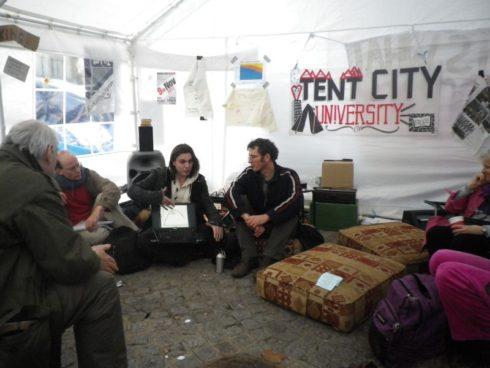 9 Sept 2011 - Shaun Chamberlin and Rob Hopkins at Occupy London