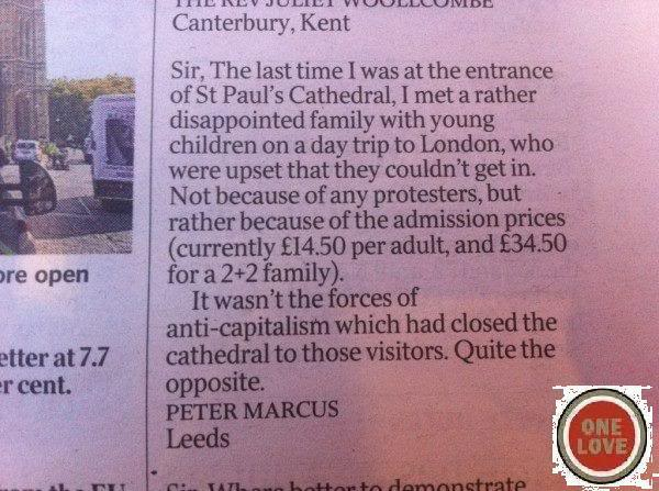 St. Paul's letter to paper