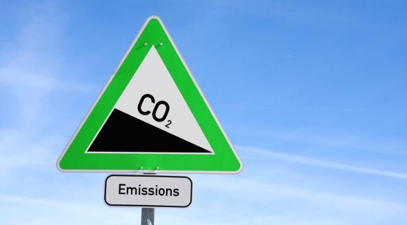 CO2 roadsign
