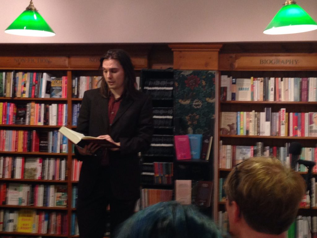 Shaun reads from Lean Logic at the book launch event in London, September 21, 2016