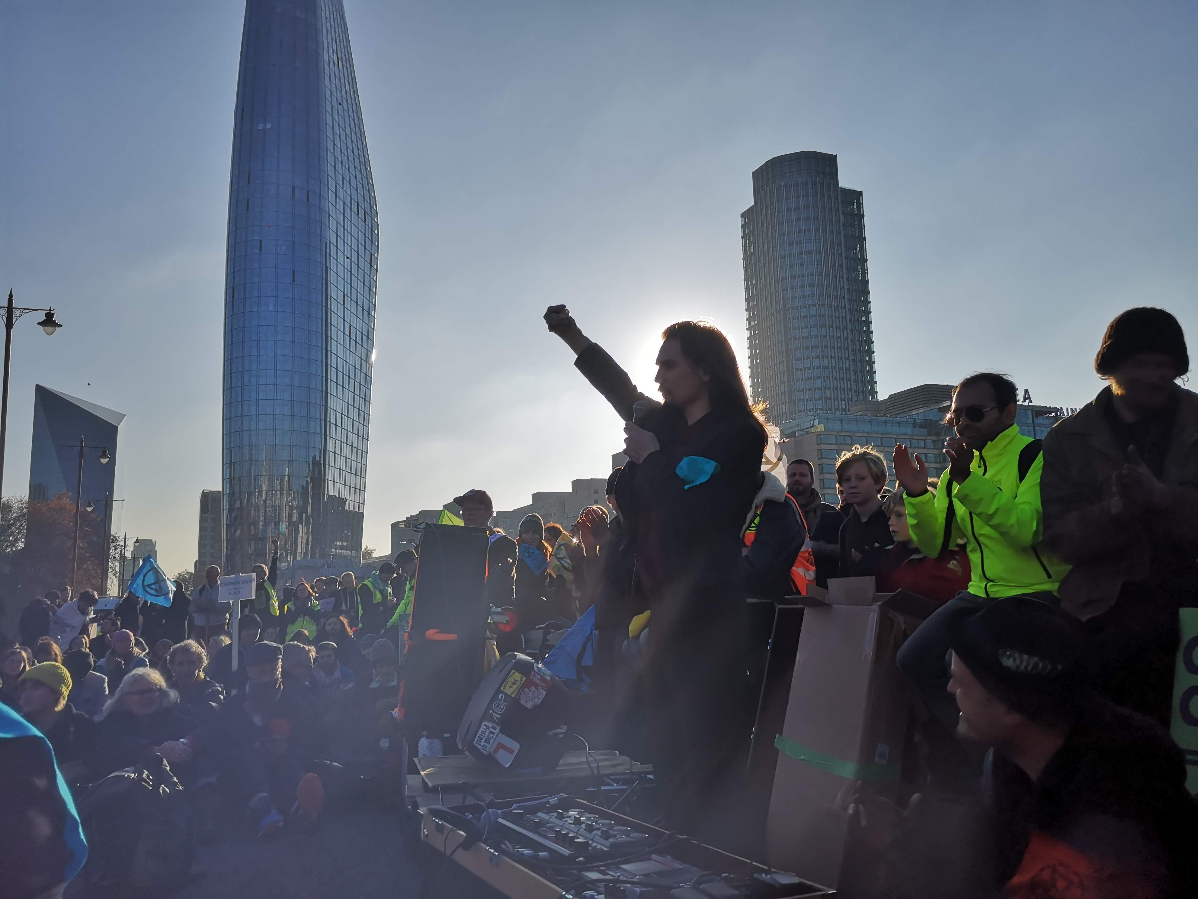 Shaun Chamberlin, Dark Optimism, XR Rebellion Day 1