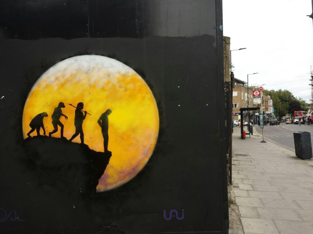 Guerilla art in Bethnal Green
