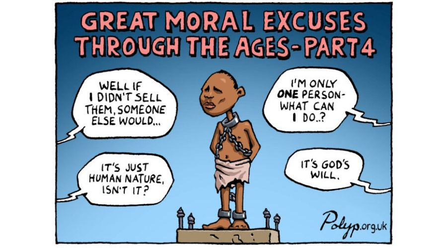 'Great Moral Excuses' cartoon by Polyp